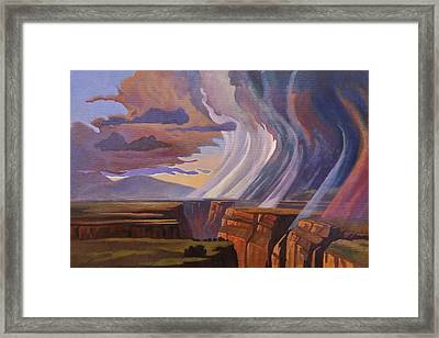 Rainbow Of Rain Framed Print by Art James West