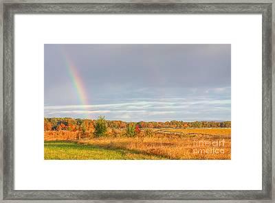 Rainbow On The Gettysburg Battlefield Five Framed Print