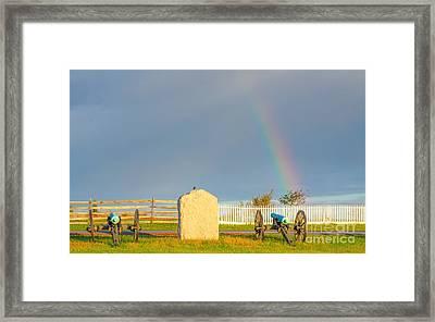 Rainbow On The Gettysburg Battlefield Four Framed Print