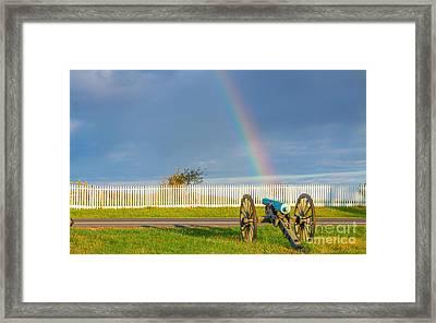 Rainbow On The Gettysburg Battlefield Framed Print