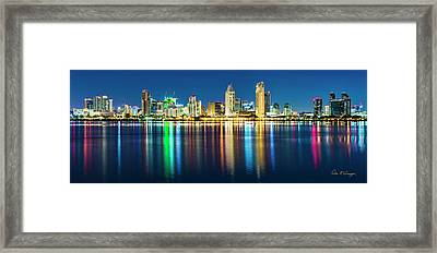 Rainbow On The Water Framed Print