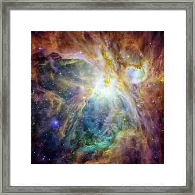 Rainbow Orion 2 Framed Print by Georgia Fowler