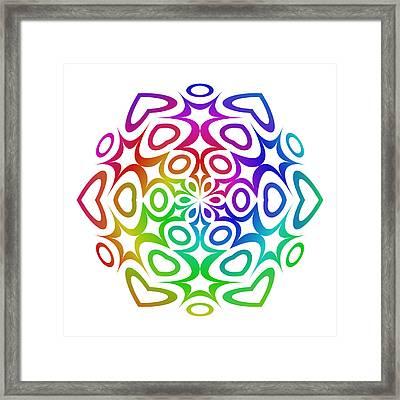 Rainbow Ornament Framed Print by David Zydd