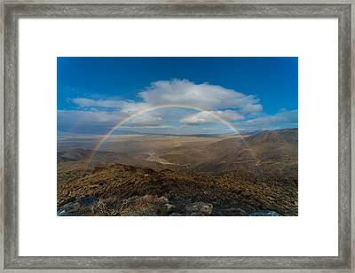 Rainbow Over Borrego Springs Framed Print