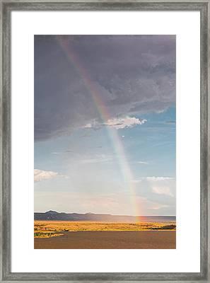 Rainbow Over Cochiti Lake - Rio Grande New Mexico Land Of Enchantment Framed Print