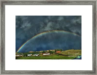 Rainbow Over Cripple Creek Framed Print
