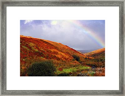 Rainbow Over Mountain Valley Framed Print by Thomas R Fletcher