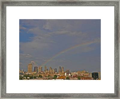 Rainbow Over Nashville Framed Print by Randy Muir