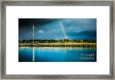 Rainbow Over Nombre De Dios Framed Print by Jim DeLillo