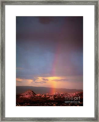 Rainbow Over The Dells Framed Print