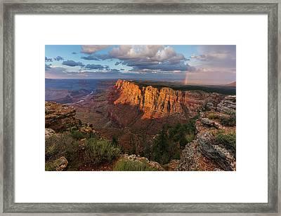 Rainbow Over The Painted Desert Framed Print by Adam Schallau