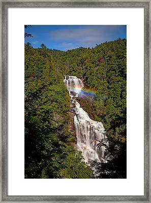 Rainbow Over Whitewater Falls Framed Print