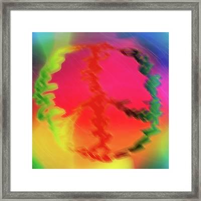 Rainbow Peace Framed Print by Adam LeCroy
