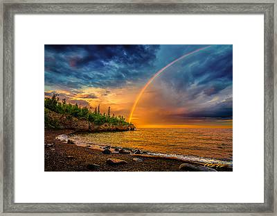 Rainbow Point Framed Print by Rikk Flohr