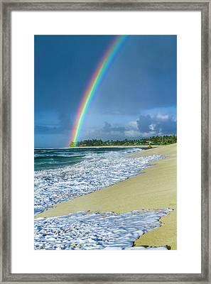 Rainbow Point Framed Print