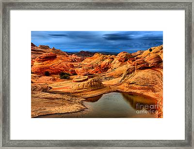 Rainbow Pool At Coyote Buttes Framed Print by Adam Jewell