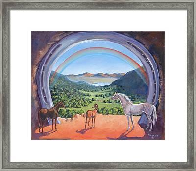 Rainbow Portal Framed Print by Elizabeth Lane