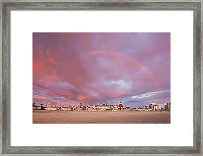 Rainbow Proposal Framed Print