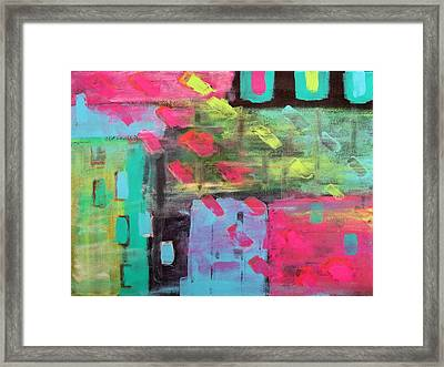 Rainbow Rain Framed Print