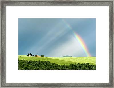 Rainbow Rays Framed Print by Michael Blanchette
