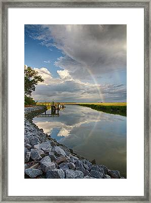 Rainbow Reflection Framed Print