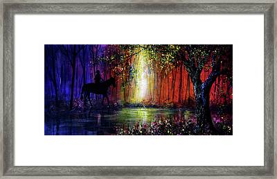 Rainbow Ride Framed Print by Ann Marie Bone