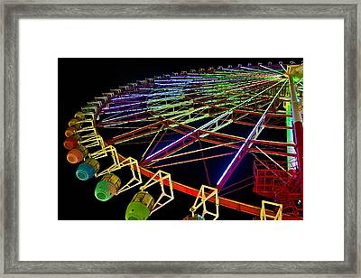 Rainbow Ride Framed Print by Dan Wells