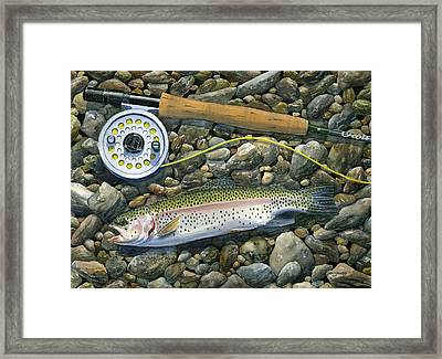 Rainbow Rocks Framed Print by Mark Jennings