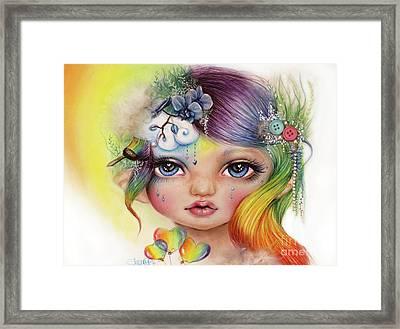 Rainbow Rosalie  Framed Print