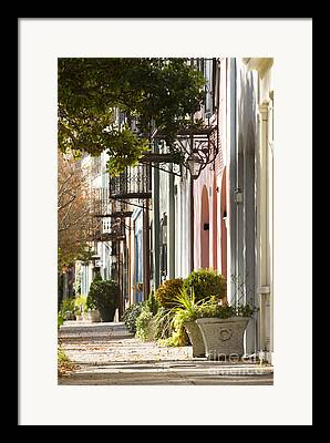 Row Homes Framed Prints