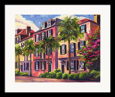 Charleston Houses Framed Prints