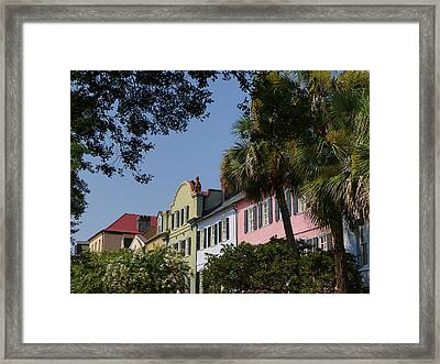Rainbow Row Framed Print