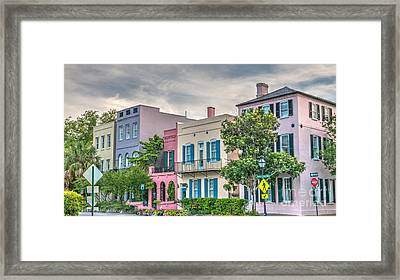 Rainbow Row II Framed Print