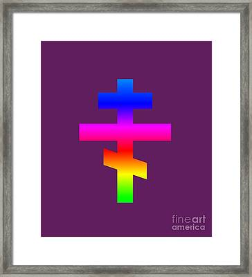 Rainbow Russian Orthodox Symbol Framed Print
