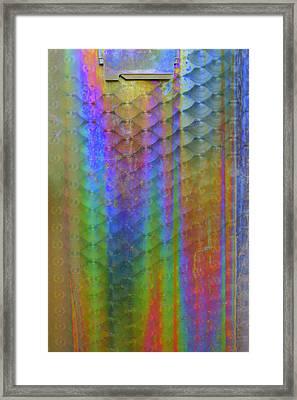 Rainbow Rust Framed Print by Julie Lueders