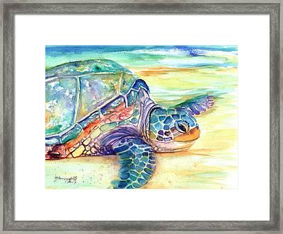 Rainbow Sea Turtle 2 Framed Print