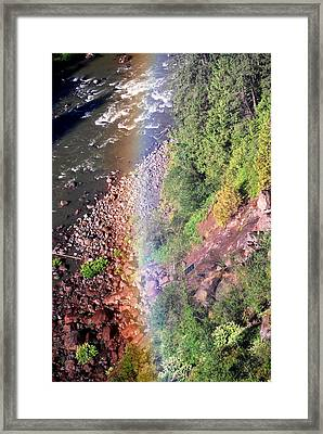 Rainbow Framed Print by Sergey  Nassyrov