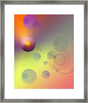 Rainbow Sherbet Framed Print