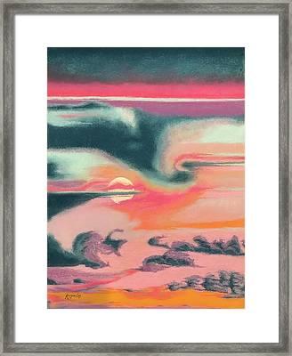 Rainbow Sky Framed Print by Harvey Rogosin