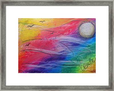 Rainbow Sky Framed Print by Lesli Burke