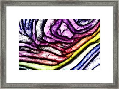 Rainbow Slide 400x Framed Print