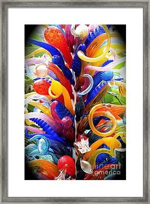 Rainbow Spirals Framed Print