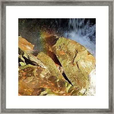 Rainbow Splash Framed Print by David Birchall