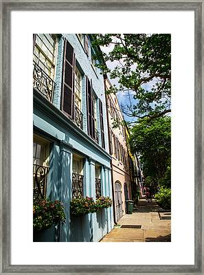 Framed Print featuring the photograph Rainbow Street by Karol Livote