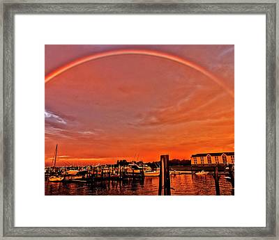 Rainbow Sunrise Framed Print