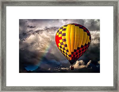 Rainbow Sunset Framed Print by Bob Orsillo