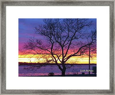Rainbow Sunset Framed Print