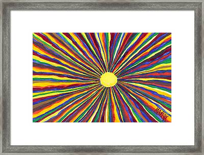 Rainbow Sunshine Framed Print
