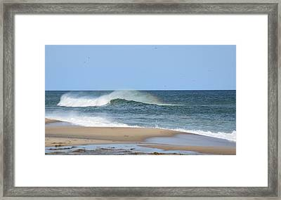 Rainbow Surf Framed Print by by Delsea