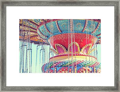 Framed Print featuring the photograph Rainbow Swings by Melanie Alexandra Price